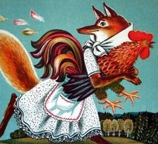 Сказка Петух и лиса, Шотландская сказка