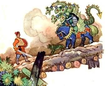 Сказка Бой на Калиновом мосту, Русская народная сказка