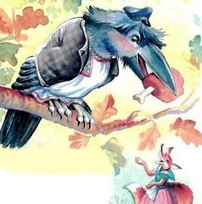 Сказка Ворон и лисица, Эзоп древнегреческий баснописец