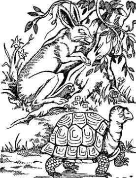 Черепаха и заяц, Басня