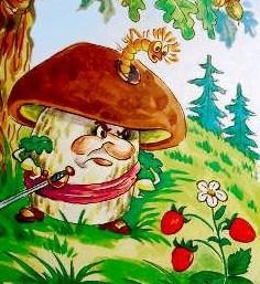Война грибов с ягодами, Сказка