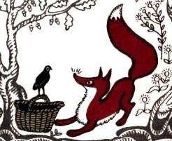 Лиса и перепёлка, Сказка