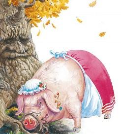 Свинья под Дубом, Басня
