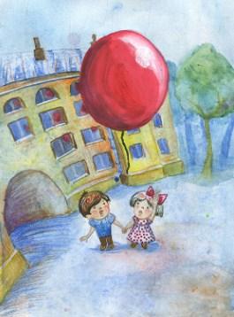 Сказка Красный шарик в синем небе, Драгунский Виктор
