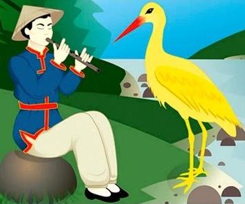 Жёлтый аист, Сказка