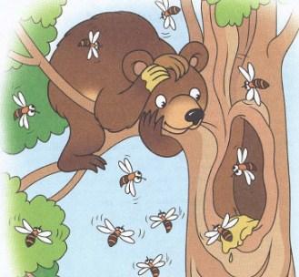 Медведь и пчелы, Басня