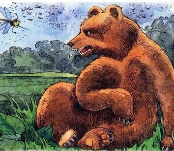 Комар и медведь, Сказка