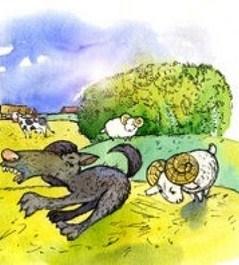 Сказка Два барана и волк, Албанская сказка