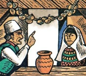 Сказка Глупая жена, Албанская сказка