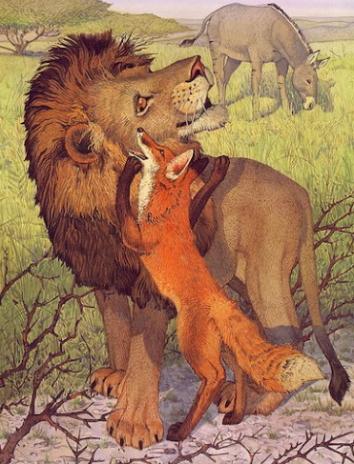 Сказка Лев и лиса, Эзоп древнегреческий баснописец