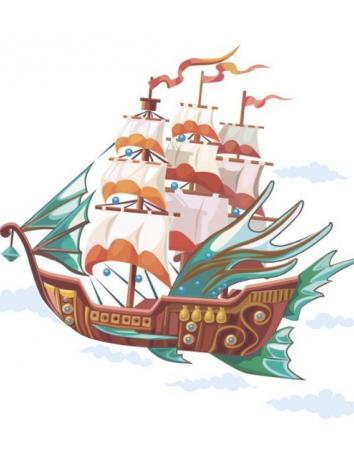 Сказка Волшебный корабль, Французская сказка