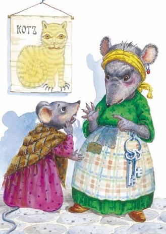 Сказка Мышь и крыса, Крылов Иван