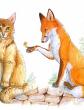 Лис и кошка