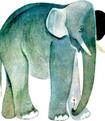 Слон и муравей, Сказка