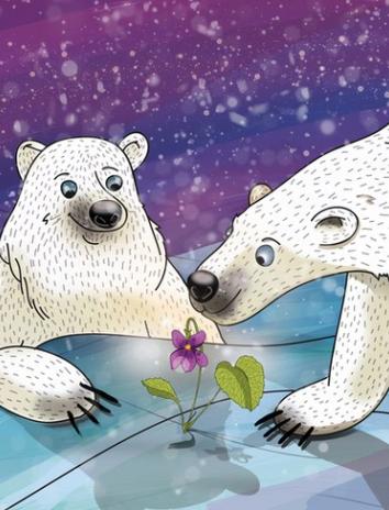 Фиалка на Северном полюсе, Сказка