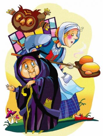 Сказка Дочка пекаря, Английская народная сказка