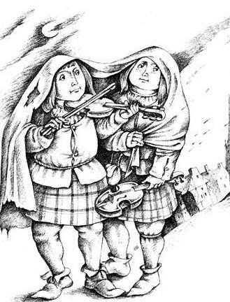 Два скрипача из Стратспи, Сказка