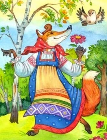 Сказка Лисица-хитрица, Белорусская народная сказка