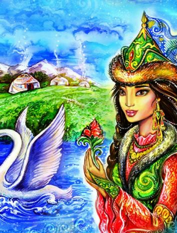 Сказка Награда мудрости, Казахская сказка