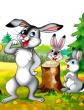 Почему у зайца губа рассечена, Сказка
