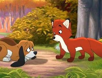 Лисица и собаки, Сказка