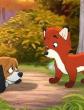 Лисица и собаки