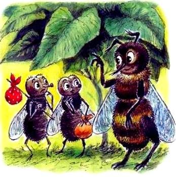 рисунки к басне крылова муха