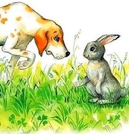 Собака и заяц, Басня