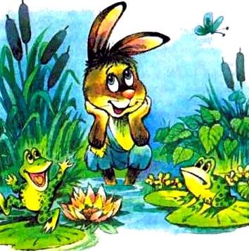 Зайцы и лягушки, Басня