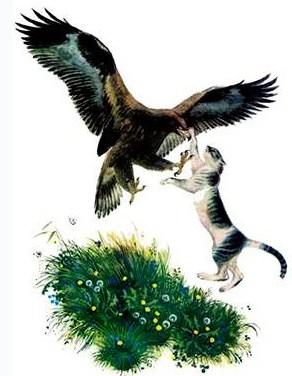 Сказка Орел и кошка, Константин Ушинский