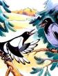 Ворон и сорока, Басня
