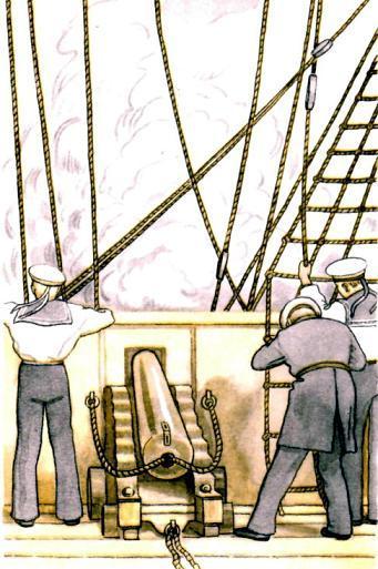 артеллиристы на корабле