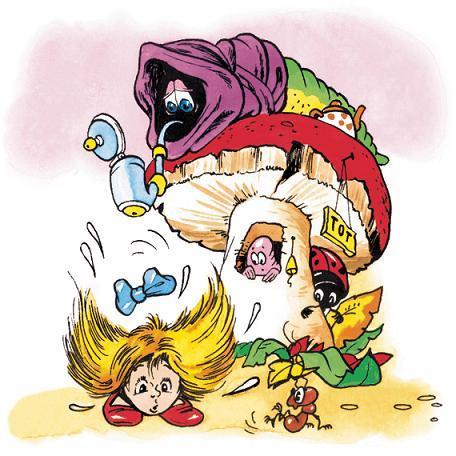 Алиса и огромный гриб-дом