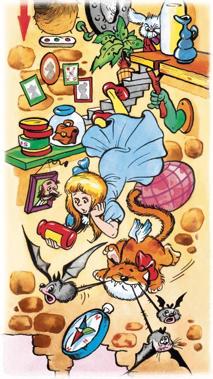 Алиса падает в кроличью нору