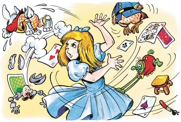 Алиса раскидала всех по сторонам