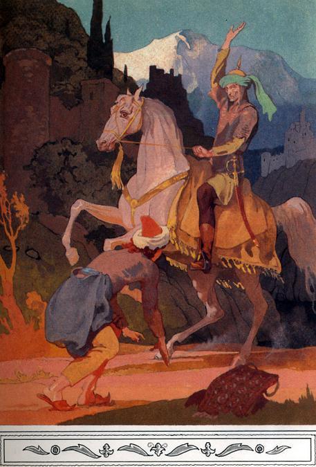 Богатый турок верхом на лошади