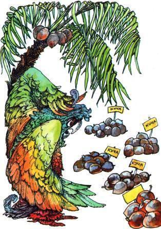 Попугай под пальмой