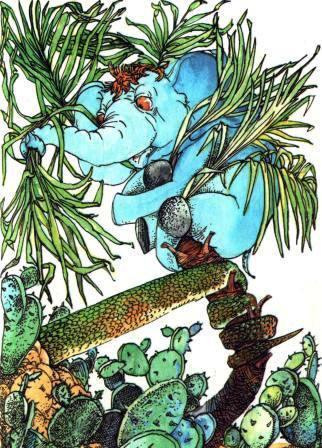 Слоненок на пальме