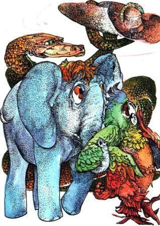 Попугай Слоненок удав