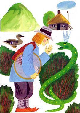 бедный крестьянин по имени Бартек и Благодарная змея