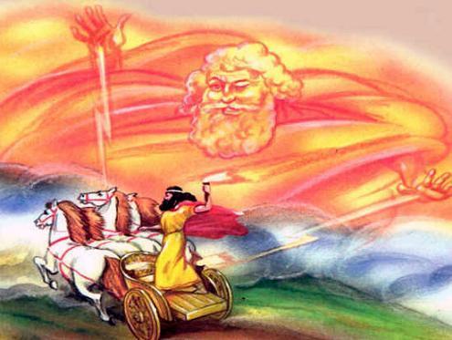 Салмоней на колеснице