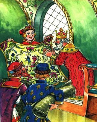 иван царевич подносит царю ковер