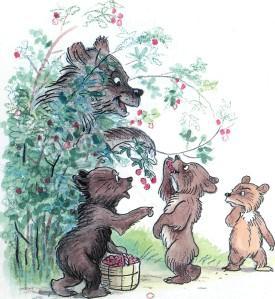 медведь медведица с медвежатами рвут рвет малину