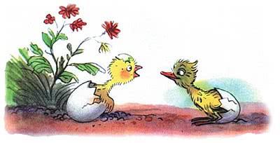 Сказка Сутеева Цыплёнок и утёнок