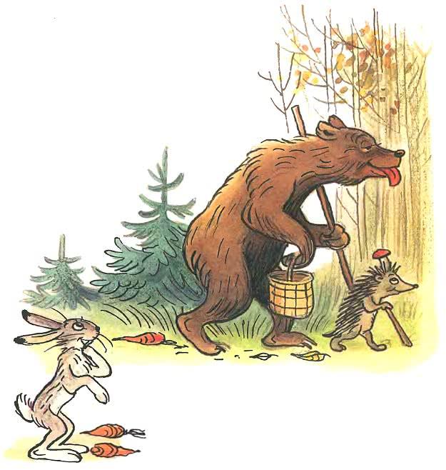 Сказка Сутеева про жадного медведя