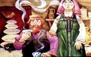 У Ивана-богатея полна изба всякого добра, а семья - он да жена
