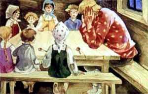 А у Ивана-бедняка ребят семеро