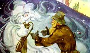 Мороз дает Ивану сумочку-выручалочку