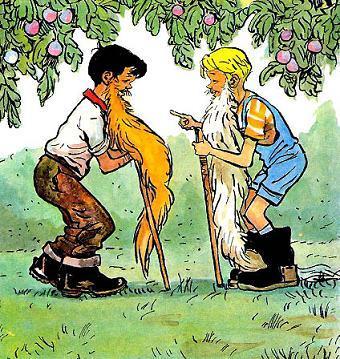 Мишутка и Стасик старики