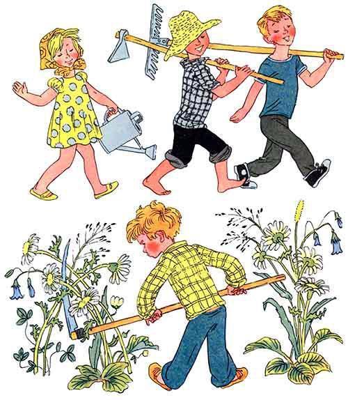 ребята - огородники